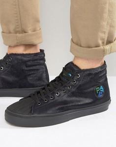 Кроссовки с эффектом ворса Paul Smith Mcgee - Темно-синий