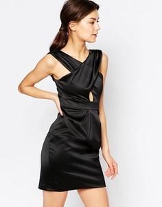 Платье мини с перекрестной драпировкой спереди Hedonia Jemima - Черный