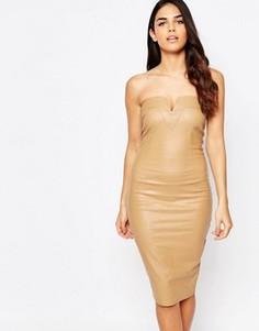 Облегающее платье-бандо AX Paris - Бежевый
