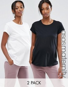 2 футболки для беременных с круглым вырезом ASOS Maternity - СКИДКА 15 - Мульти