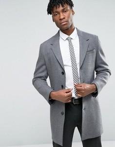 Пальто с необработанным краем Devils Advocate - Серый