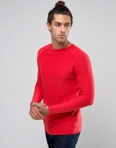 Джемпер в рубчик с круглым вырезом United Colors of Benetton - Красный