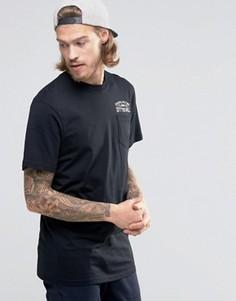 Черная футболка с карманом и принтом Since 66 Vans VA2YPHBLK - Черный