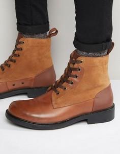Кожаные ботинки на шнуровке G-Star Myrow - Коричневый