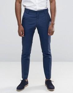 Льняные брюки Selected - Темно-синий