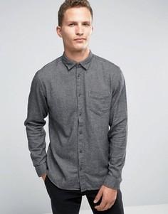 Фланелевая рубашка классического кроя Selected Homme - Серый