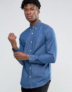 Светлая рубашка из шамбре Selected Homme - Синий