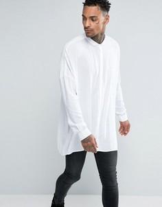 Белая oversize-рубашка с заниженной линией плеч ASOS - Белый