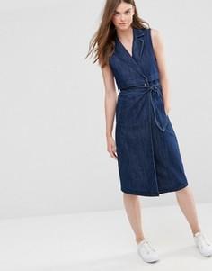 Удлиненное джинсовое платье‑тренч Only - Синий
