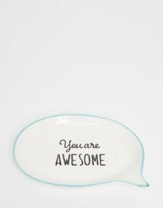 Тарелка для украшений Sass & Belle You Are Awesome - Мульти