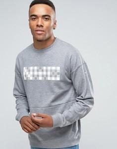 Серый свитшот с круглым вырезом Nike Nk Court 810149-091 - Серый