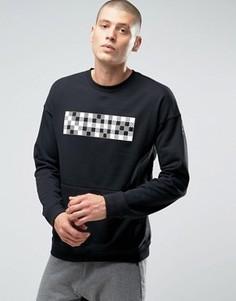 Черный свитшот с круглым вырезом Nike Nk Court 810149-010 - Черный