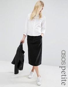 Черная джинсовая юбка в винтажном стиле ASOS PETITE - Черный
