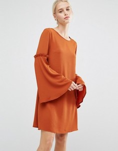 Свободное платье с оборками Lost Ink - Красный
