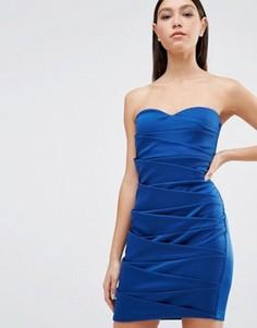 Платье-футляр Little Mistress - Темно-синий