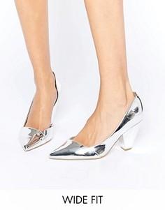 Tуфли для широкой стопы на каблуке ASOS SAPPHIRE - Серебряный