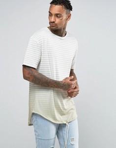 Удлиненная футболка в полоску Granted - Stone