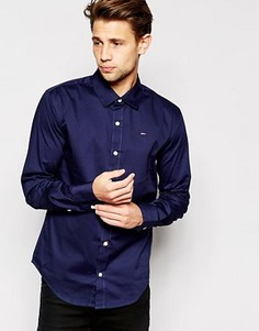 Эластичная рубашка слим Hilfiger Denim - Синий