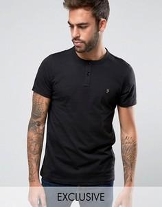 Эксклюзивная футболка хенли узкого кроя Farah - Черный