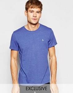 Эксклюзивная синяя меланжевая футболка с логотипом-фазаном Jack Wills - Синий