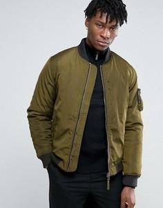 Нейлоновая уплотненная куртка-пилот Bellfield - Зеленый