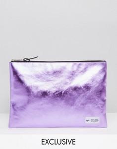 Розовый клатч с металлизированным эффектом Hype Exclusive - Розовый