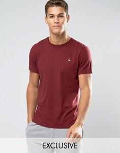 Бордовая футболка классического кроя Jack Wills Sandleford - Красный
