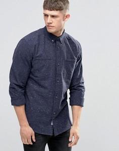 Темно-синяя рубашка в крапинку с двумя карманами Bellfield - Темно-синий