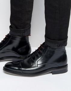 Кожаные ботинки на шнуровке Ted Baker Baise - Черный
