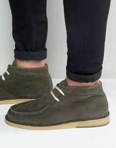 Замшевые ботинки Selected Homme Ronni - Зеленый