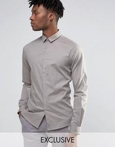 Меланжевая облегающая рубашка Noak - Stone