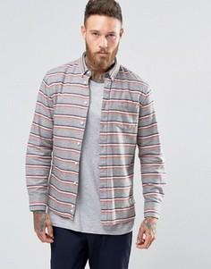 Рубашка в горизонтальную полоску из хлопка с начесом Penfield Hants - Серый
