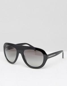 Черные солнцезащитные очки Giorgio Armani - Черный