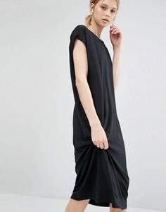 Удлиненное платье-футболка Dr Denim - Черный