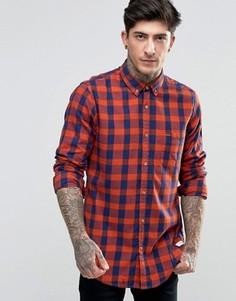 Классическая рубашка в клетку (темно-синий/оранжевый) Scotch & Soda - Темно-синий
