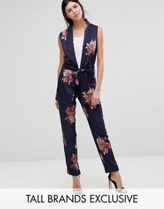 Пижамные брюки с цветочным принтом Alter Tall - Мульти