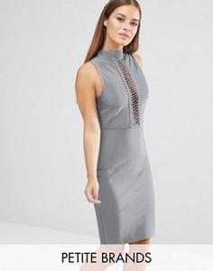 Бандажное платье Missguided Petite Premium - Серебряный