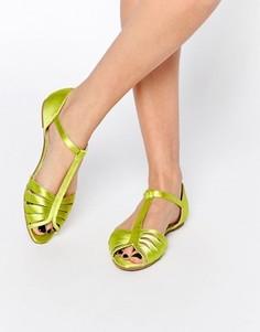 Туфли с Т-образным ремешком и открытым носом ASOS JENNA - Желтый