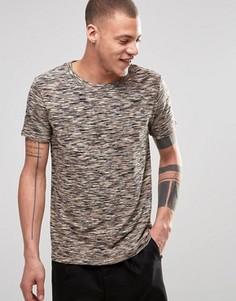 Меланжевая футболка Weekday Hunter - Коричневый