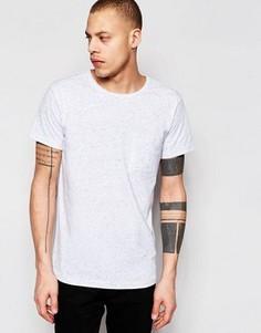 Белая меланжевая футболка Weekday Don - Белый