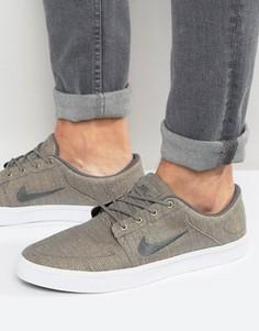 Серые парусиновые премиум-кроссовки Nike SB Portmore 807399-001 - Серый