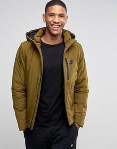 Зеленая куртка с капюшоном Nike 810856-368 - Зеленый