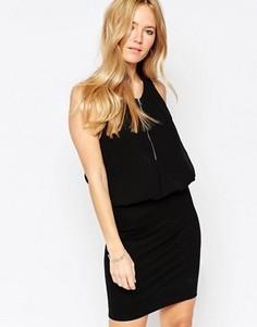 Платье с горловиной на молнии Minimum Tiana - Черный