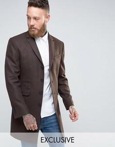 Пальто табачного цвета Heart & Dagger - Коричневый