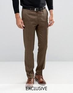 Зауженные строгие брюки из твида Heart & Dagger - Коричневый