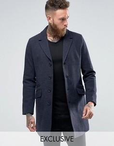 Пальто строгого кроя Only & Sons - Темно-синий