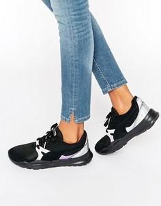 Черные кроссовки с голографической отделкой Puma Duplex - Черный