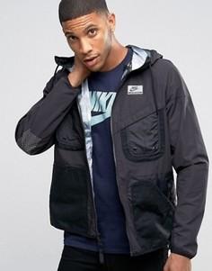 Черная куртка с капюшоном Nike International 802482-010 - Черный