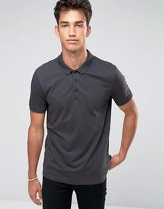Серая трикотажная футболка-поло ASOS - Серый