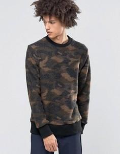 Джемпер из вареной шерсти с камуфляжным рисунком Weekday - Черный